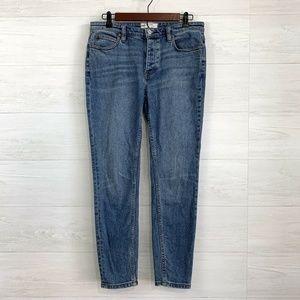 Free People Jeans - Free People Star Fray Pocket Hi Rise Skinny Jean